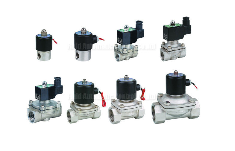 3mm~50mm Orifice Stainless Steel Diaphragm 2 Way Solenoid Valve With EPDM Seal