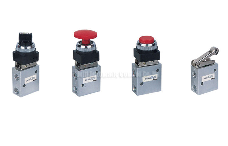 JM Series Two Position Three Way Mechanical Control Valve , Pneumatic Machine Control Valve